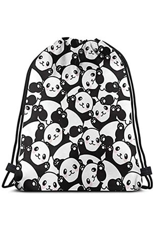 Affany Damen Rucksäcke - Rucksack mit Kordelzug, für Herren und Damen, mit Cartoon-Hai-Motiv, aus Polyester, für Wandern, Yoga, Schwimmen