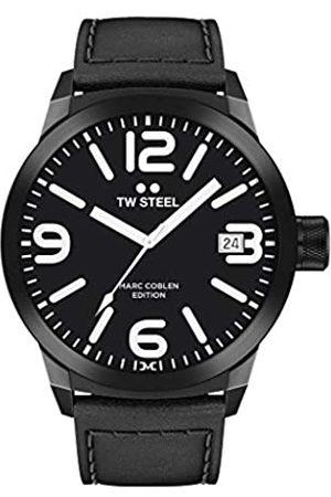 TW steel Herren Uhren - Herren Analog Quarz Uhr mit Leder Armband TWMC30