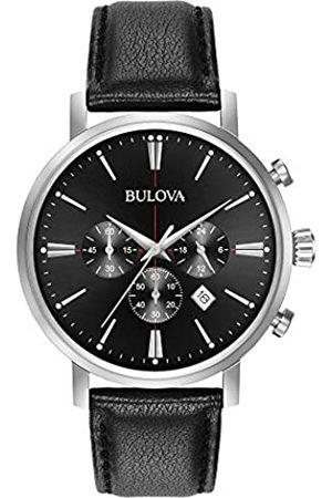 BULOVA Classic Aerojet 96B262 - Herren Designer-Armbanduhr - Chronograph mit Armband aus Leder