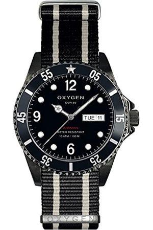 Oxygen Herren Uhren - Moby Dick 40 Herren Quarzuhr mitem Zifferblatt Analog-Anzeige undem Nylon-Gurt-D-MBB-EX NN-BLIVBL - 40
