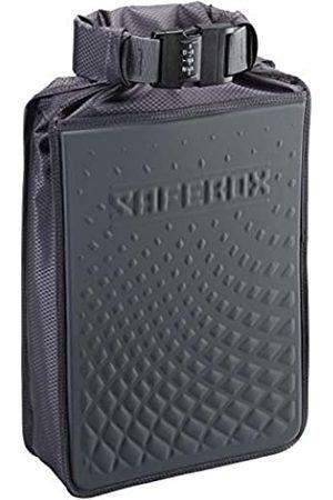 Lewis N. Clark Safebox tragbarer Safe mit Anti-Diebstahl-Zahlenschloss und schnittfestem Material zum Schutz der Brieftasche (Schwarz) - 94094GRY