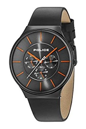 Police HerrenMultiZifferblattQuarzUhrmitLederArmband15044JSB/13A