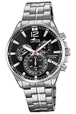 Lotus Herren Analoger Quarz Uhr mit Edelstahl Armband 10136/4