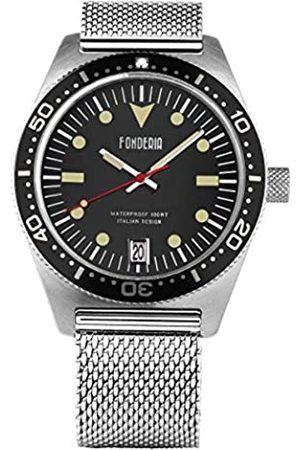 Fonderia Herren Uhren - Herren Analog Quarz Smart Watch Armbanduhr mit Edelstahl Armband