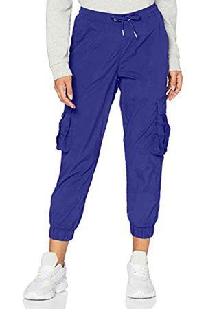 Urban classics Damen Cargohosen - Damen Ladies High Waist Crinkle Nylon Cargo Pants Hose