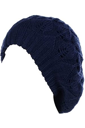 Be Your Own Style Damen Hüte - BYOS Damen Baskenmütze, mittelschwer, lässig, mit Blättern, Cutout, gehäkelt, weich
