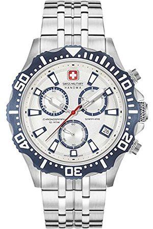Swiss Military Hanowa Herren Uhren - SWISSMILITARY-HANOWAHerrenAnalogQuarzUhrmitEdelstahlArmband06-5305.04.001.03