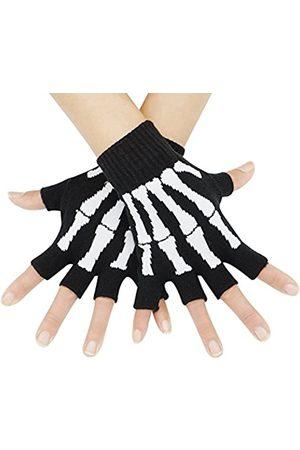 Bienvenu Herren Handschuhe - Herren Unisex Dehnbar Fingerhandwärmer Skelett Handschuhe Einheitsgröße