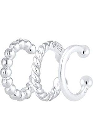 Elli Damen Ohrringe - Ohrringe Damen Earcuff Set Geo Minimal Look in 925 Sterling