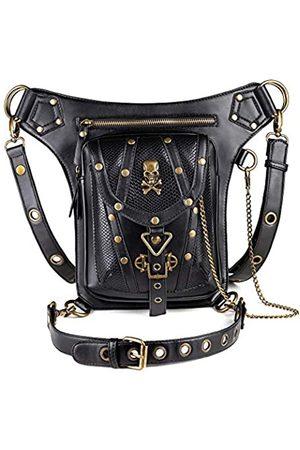 GEARDUKE Steampunk Taschen für Frauen Viktorianischen Retro Herren Schultertasche Gothic PU Leder Oberschenkel Bein Tasche
