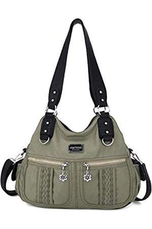 Angel Barcelo Handtasche Hobo Frauen Handtasche geräumig Mehrere Taschen Straße Damen Schultertasche Mode PU Tote Satchel Bag für Frauen