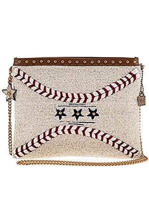 MARY FRANCES Damen Sporttaschen - Catch Me Baseball-Handtasche, mit Perlen besetzt
