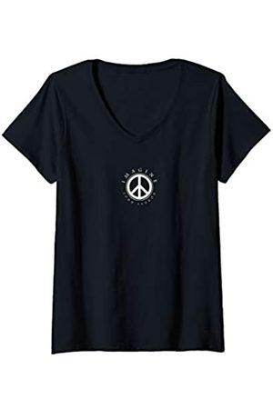 John Lennon Damen T-Shirts, Polos & Longsleeves - Damen - Imagine T-Shirt mit V-Ausschnitt