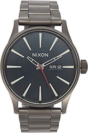 Nixon Herren Uhren - HerrenAnalogQuarzUhrmitLederArmbandA984-2368-00