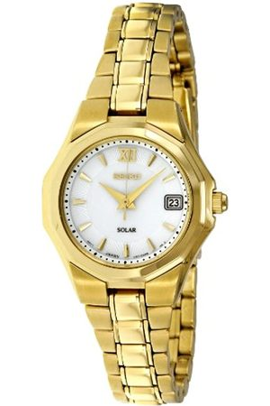 Seiko Damen-Armbanduhr XS Analog Quarz Edelstahl beschichtet SUT056P1