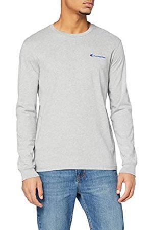 Champion Herren - Classic Small Logo Langarm T-Shirt - Grau