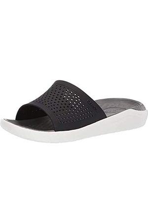 Crocs Herren Schuhe - Unisex-Erwachsene Literide Slide Sandalen, Mehrfarbig (Black/Smoke 05m)