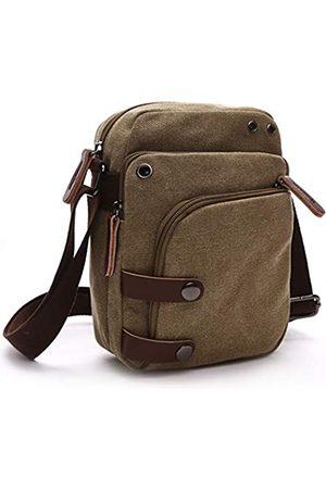 U-TIMES Herren Umhängetaschen - Canvas Messenger Bag Vintage Reisetasche Mehrfachtasche Crossbody Schultertasche Casual Herren Tasche
