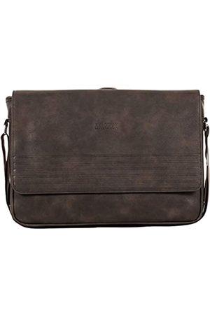 "Kenneth Cole Laptop- & Aktentaschen - Unisex-Erwachsene Grainy Vegan Leather Single Compartment 14.1"" Messenger Bag Laptop, Kuriertasche"