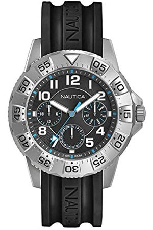 Nautica Herren Analog Quarz Uhr mit Silikon Armband NAD13541G