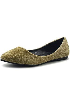 Ollio Damen Schuhe Ballett Komfort Glitter Light Pointed Toe Flats