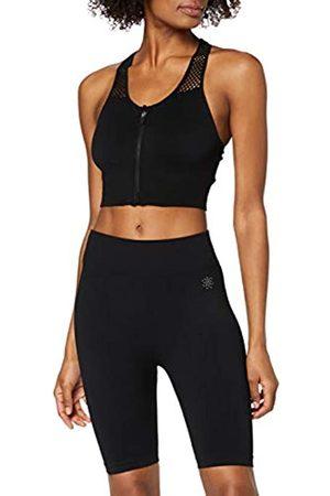 AURIQUE Damen Sport BHs - Amazon-Marke: Damen Sportshorts (Black), 36