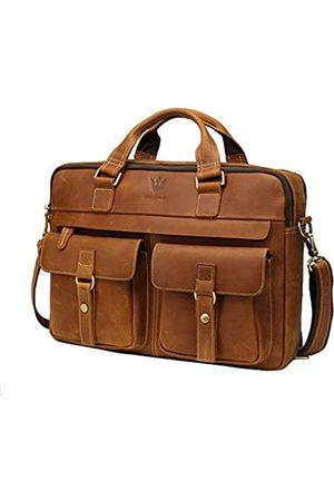 WILD WORLD Herren Handtaschen - Aktentasche Umhängetasche für Herren Business Messenger und Laptop Tasche für bis zu 15