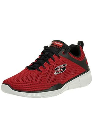 Skechers Herren Schuhe - Equalizer 3.0-52974, Men's Low Top Trainers, Red (Red Black Rdbk)