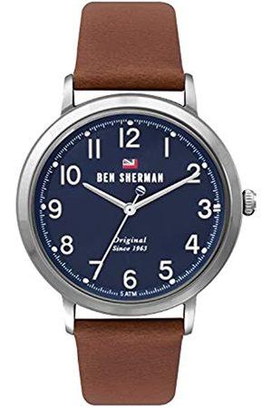 Ben Sherman Herren Uhren - Herren Analog Quarz Uhr mit Leder Armband WBS113UT