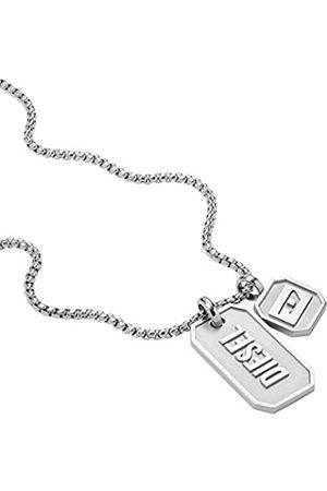 Diesel Herren Halsketten - Halskette zwei Erkennungsmarken Logo Edelstahl