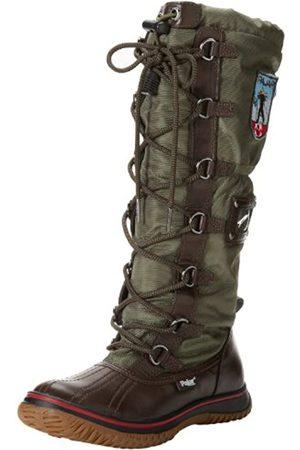 Pajar Damen Stiefel - Grip, Damen abgerundete Spitzen, Mehrfarbig - DK Brown/Military Green - Größe: 36 M 37 EU-37