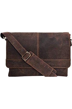 VALENCHI Valentchi Vintage-Leder-Umhängetasche für Herren und Damen, 35,6 cm (14 Zoll) Laptop-Tasche für College, Arbeit und Reisen
