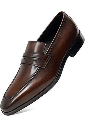 ALIPASINM Herren Kleid Schuhe Slip On Loafers Leder Business Formelle Schuhe, Braun (dunkelbraun)