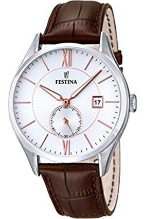 Festina Herren-Armbanduhr Analog Quarz Leder F16872/2