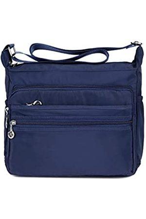 SYYHOME Damen Handtaschen - Umhängetasche für Damen, mehrere Taschen, Nylon, leicht, Reisetasche, Kuriertasche, Blau (marineblau)