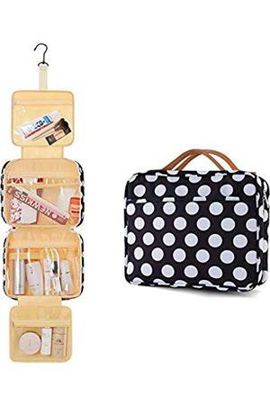 Enicuter Herren Reisetaschen - Kulturbeutel für Damen und Herren, Reisen, große Kapazität, Hängehaken, wasserdicht, Kosmetik, Make-up, Organizer, Duschtaschen mit 4 Fächern