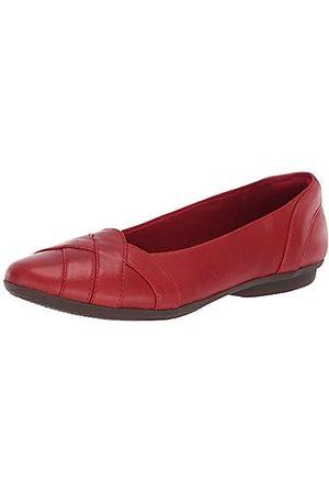 Clarks Damen Ballerinas - Damen Gracelin Mia Ballerinas flach, (Rotes Leder)