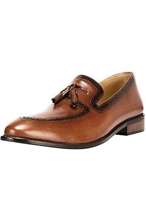 Liberty Footwear Liberty Herren Leder handgefertigt Quaste Loafer Slip On Kleid Schuhe, (hautfarben)