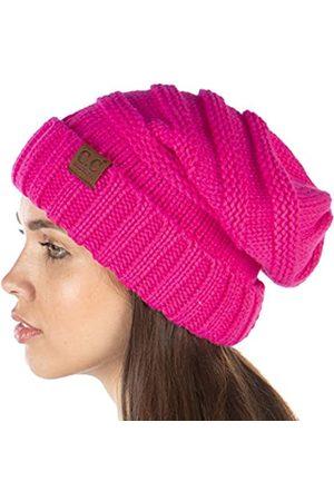 Funky Junque Exclusives Damen Beanie-Mütze, Übergröße, gerippt