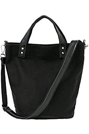 Jeelow Damen Shopper - Kleine Canvas-Handtasche mit Reißverschluss und Taschen, für Damen und Herren