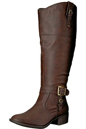 Rampage Women's Ivelia Fashion Knee High Casual Riding Boot, Brown