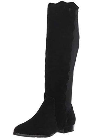 Jack Rogers Damen Stiefel - Catherine Damen Stiefel, wasserdicht, modisch, Schwarz (schwarze Velourslederoptik)