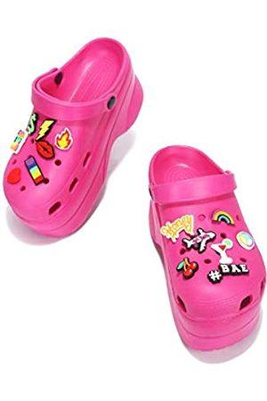 Cape Robbin Gardener Plattform-Clogs für Damen, Damenmode, bequeme Slip-On-Schuhe, Pink (rose)