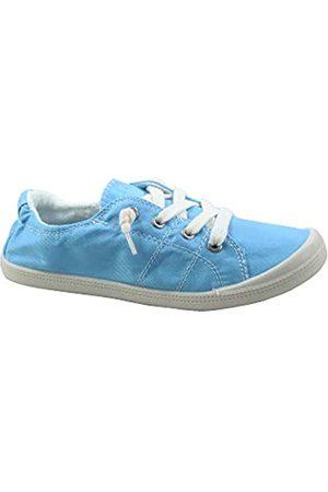 Generic Damen Sneakers - FZ-Comfort-01 Damen Süße Komfort Slip On Flache Ferse Runde Zehen Sneaker Schuhe, Blau (hellblau)