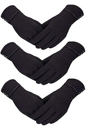 Patelai 3 Paar Damen Winter Handschuhe Warmer Handschuhe Winddicht Plüsch Handschuhe für Damen Mädchen Winter Verwendung
