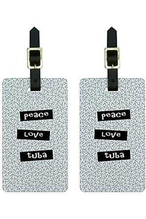 """Graphics and More Graphics & More Gepäckanhänger mit Aufschrift """"Peace-Love"""" - LUGGAGE.TAGS.0864"""