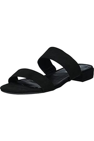 Rampage Damen Sandalen - Ramapage Isla Damen Sandale mit offenem Zehenbereich, Doppelriemen, (Black Micro)