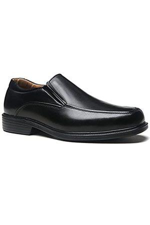 La Milano Herren Halbschuhe - Herren Schuhe a1720w Leder Slip On Kleid Oxfords, (Wide-3-black)