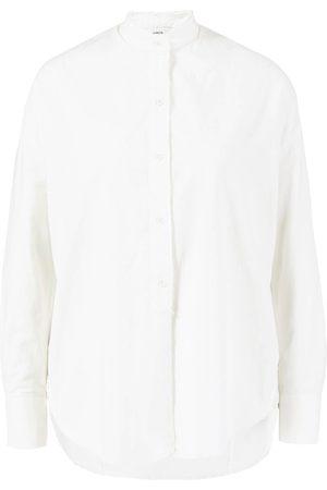 Vince Baumwoll-Seiden Bluse mit Stehkragen