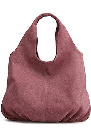 AUSTARK Damen Umhängetaschen - Damen Hobo Handtasche Baumwolle Canvas Schultertasche Multi-Pocket Tote Bag Casual Daily Purse